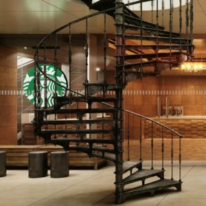 Spiraltrappa Grand Paris Starbucks